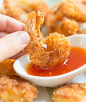 8 Pieces Fried Shrimp With Sauce