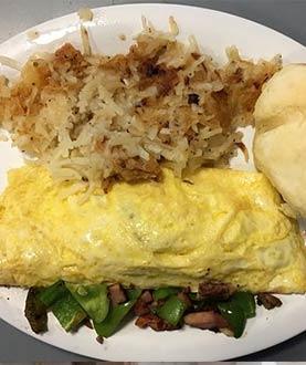 Breakfast 3 Eggs Omelet Platter